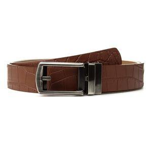 NWT Comfort Click BRN Leather Ratchet Belt A000667